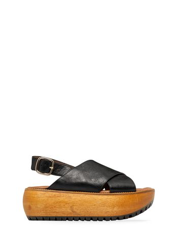 Marni Nappa leather cross-over wedge Woman