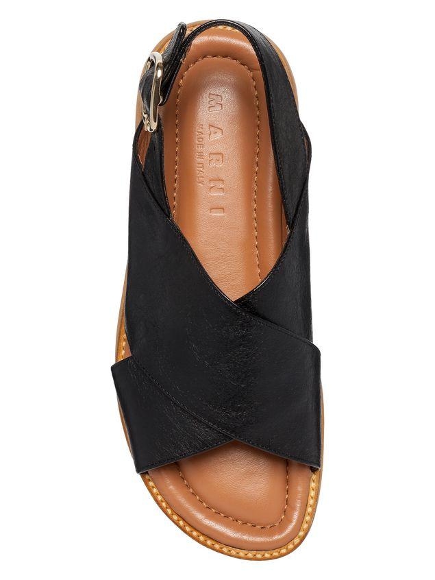Marni Nappa leather cross-over wedge Woman - 4