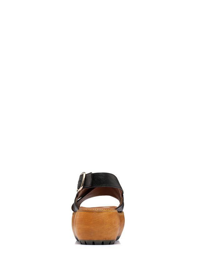 Marni Nappa leather cross-over wedge Woman - 3