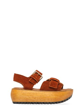 Marni Two-band wedge in leather Woman