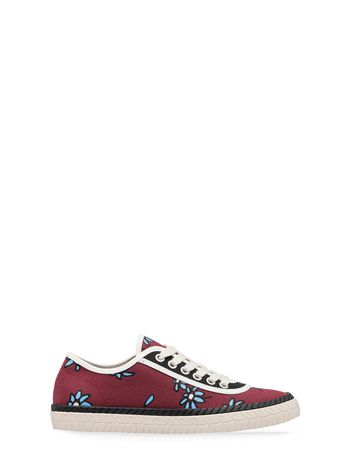 Marni Canvas sneaker Petals print by Frank Navin burgundy Woman