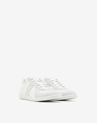 SHOES Calfskin 'Replica' sneaker White