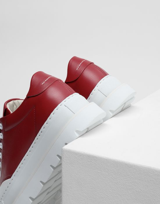 MM6 MAISON MARGIELA Calfskin sneakers with rubber soles Sneakers [*** pickupInStoreShipping_info ***] e