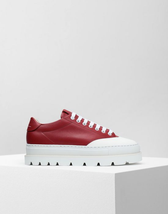 MM6 MAISON MARGIELA Calfskin sneakers with rubber soles Sneakers [*** pickupInStoreShipping_info ***] f