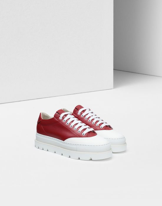 MM6 MAISON MARGIELA Calfskin sneakers with rubber soles Sneakers [*** pickupInStoreShipping_info ***] r