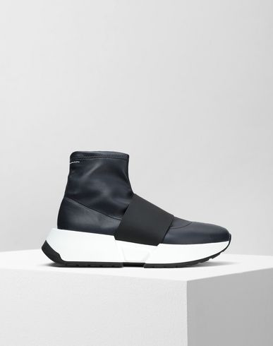 MM6 MAISON MARGIELA スニーカー レディース Leather sock sneakers with a strap f