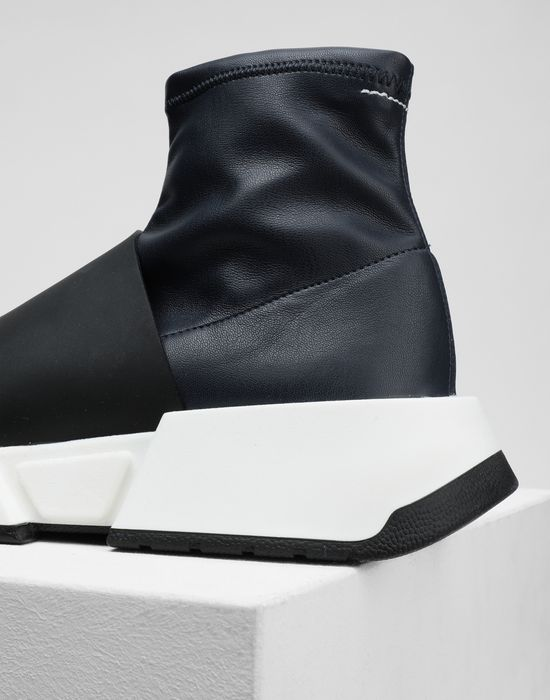 MM6 MAISON MARGIELA Leather sock sneakers with a strap Sneakers [*** pickupInStoreShipping_info ***] a