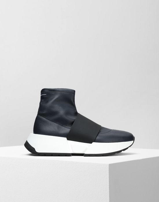 MM6 MAISON MARGIELA Leather sock sneakers with a strap Sneakers [*** pickupInStoreShipping_info ***] f