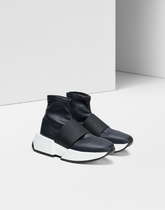 MM6 MAISON MARGIELA Leather sock sneakers with a strap Sneakers [*** pickupInStoreShipping_info ***] r