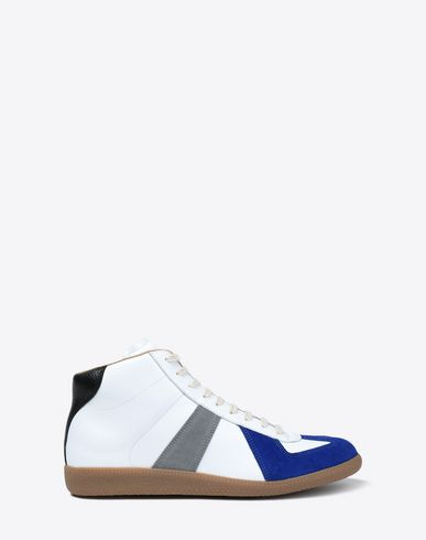 Tricolour high-top 'Replica' sneakers
