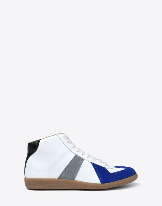 MAISON MARGIELA Tricolour high-top 'Replica' sneakers Sneakers [*** pickupInStoreShippingNotGuaranteed_info ***] f