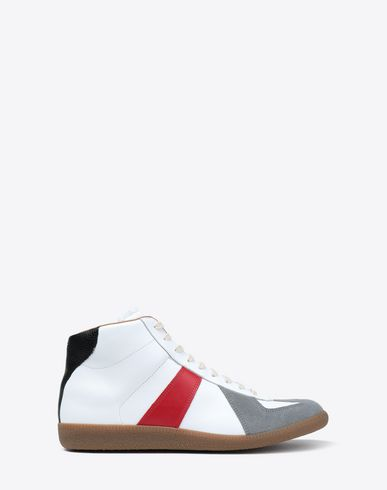 MAISON MARGIELA Sneakers [*** pickupInStoreShippingNotGuaranteed_info ***] Tricolor High-top 'Replica' sneakers f