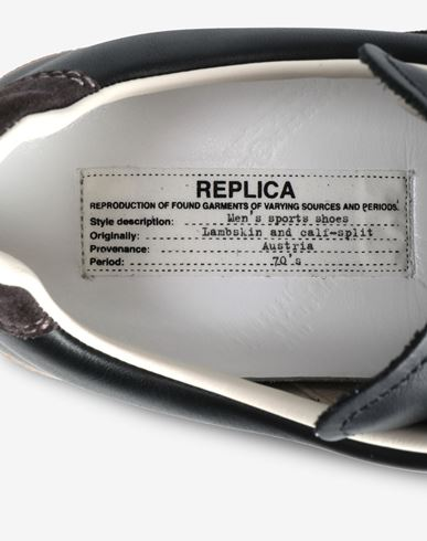 シューズ Low-top 'Replica' sneaker ブラック
