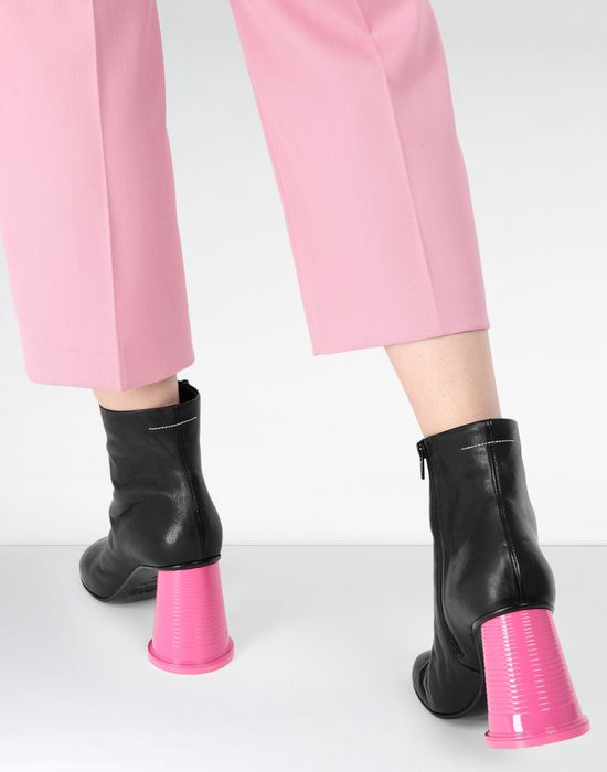 MM6 MAISON MARGIELA Ankle boots with cup heels Ankle boots [*** pickupInStoreShipping_info ***] b