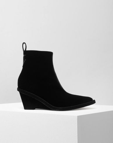 MM6 MAISON MARGIELA Ankle boots [*** pickupInStoreShipping_info ***] Flocked suede wedge booties f