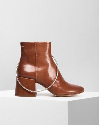 MM6 MAISON MARGIELA Ankle Boots Damen Ankle Boots aus Leder mit Ring f