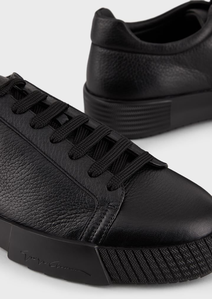 GIORGIO ARMANI Sneakers in deerskin with embellished sole Sneakers Man a