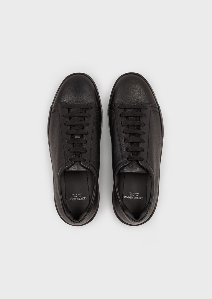 GIORGIO ARMANI Sneakers in deerskin with embellished sole Sneakers Man d