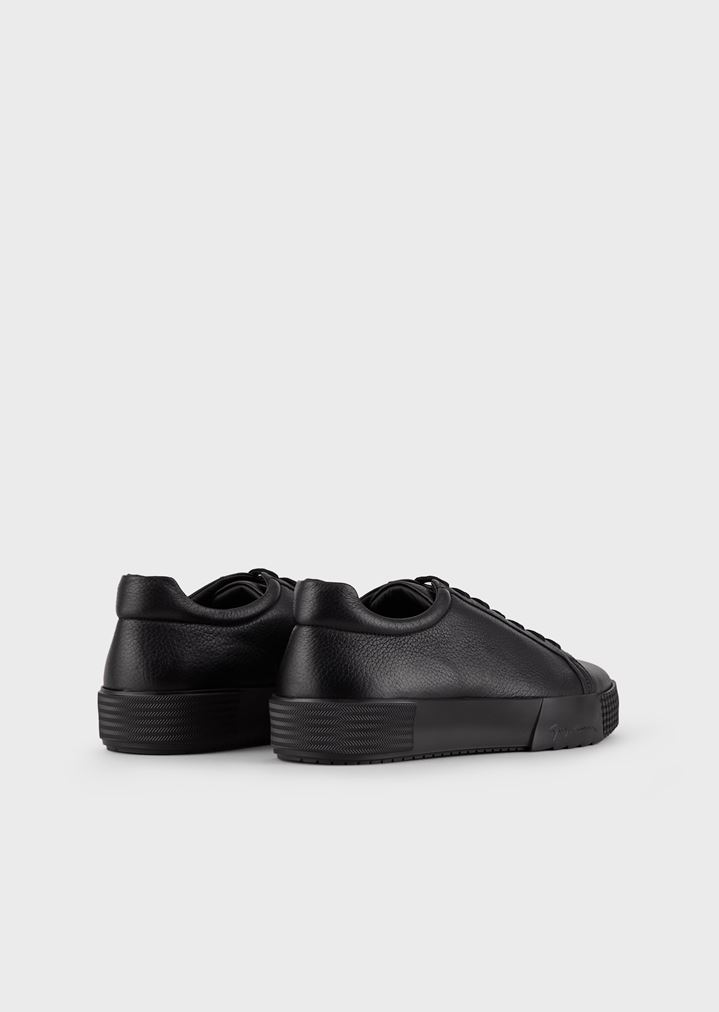 GIORGIO ARMANI Sneakers in deerskin with embellished sole Sneakers Man e