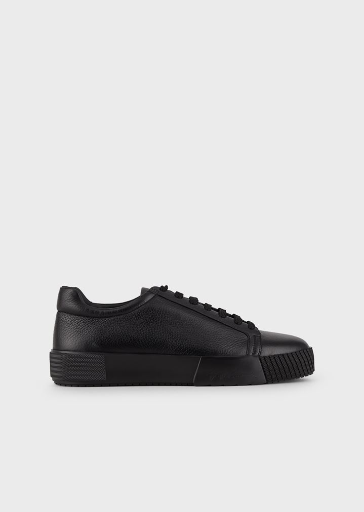 GIORGIO ARMANI Sneakers in deerskin with embellished sole Sneakers Man f