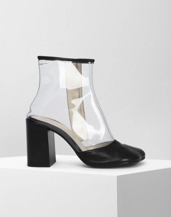 MM6 MAISON MARGIELA PVC and leather boots Ankle boots [*** pickupInStoreShipping_info ***] f