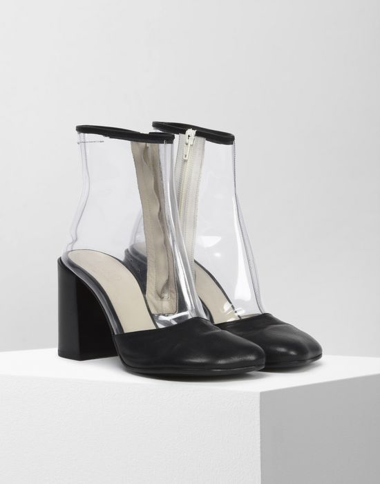 MM6 MAISON MARGIELA PVC and leather boots Ankle boots [*** pickupInStoreShipping_info ***] r