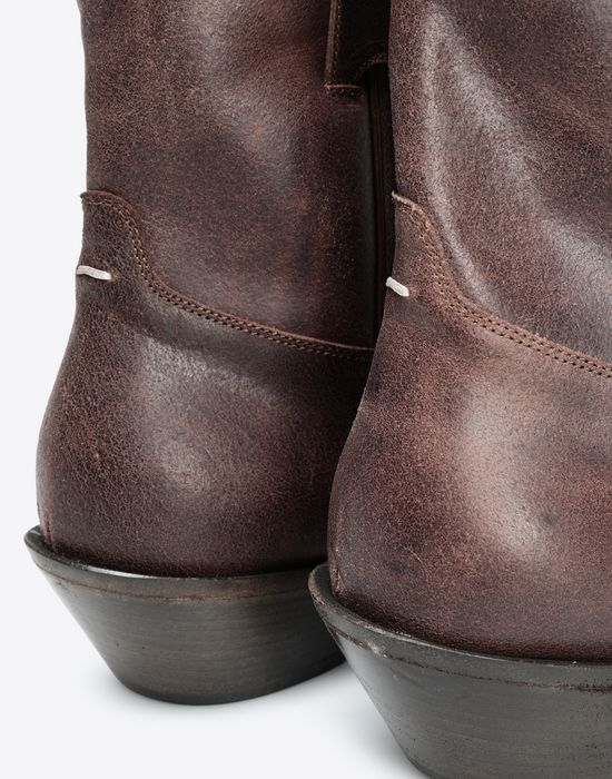 MAISON MARGIELA Waxed cowboy boots Ankle boots [*** pickupInStoreShippingNotGuaranteed_info ***] a