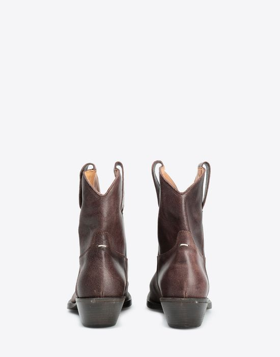 MAISON MARGIELA Waxed cowboy boots Ankle boots [*** pickupInStoreShippingNotGuaranteed_info ***] d