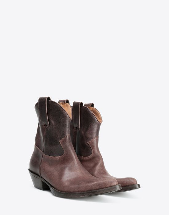 MAISON MARGIELA Waxed cowboy boots Ankle boots [*** pickupInStoreShippingNotGuaranteed_info ***] r