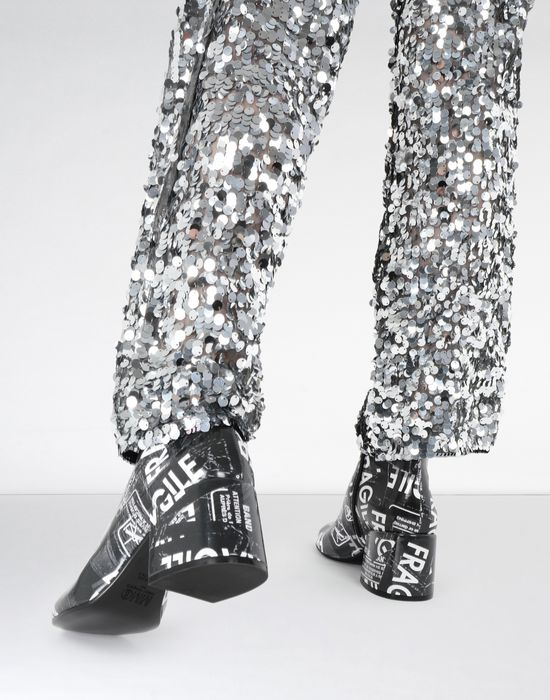 MM6 MAISON MARGIELA Fragile' print ankle boots Ankle boots [*** pickupInStoreShipping_info ***] b