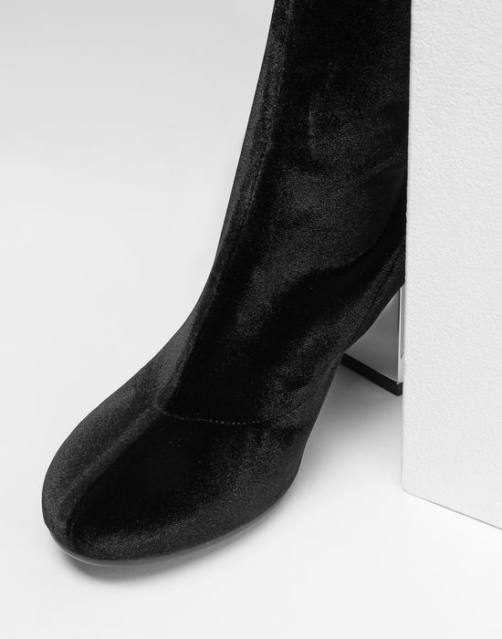 MM6 MAISON MARGIELA Velvet thigh-high boots Boots [*** pickupInStoreShipping_info ***] a