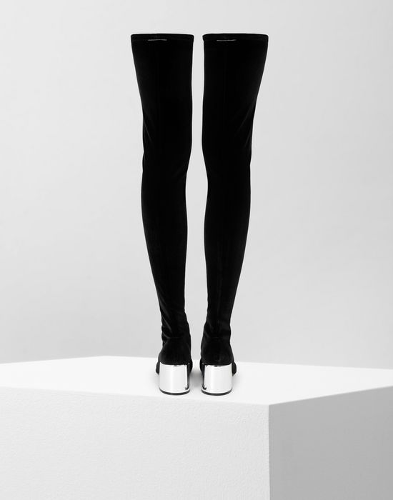 MM6 MAISON MARGIELA Velvet thigh-high boots Boots [*** pickupInStoreShipping_info ***] d