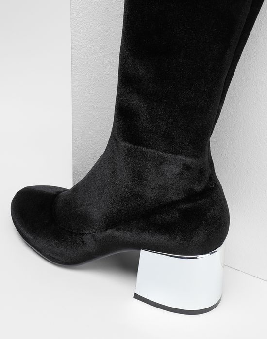 MM6 MAISON MARGIELA Velvet thigh-high boots Boots [*** pickupInStoreShipping_info ***] e