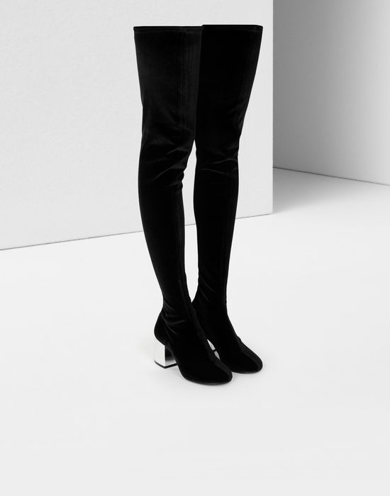 MM6 MAISON MARGIELA Velvet thigh-high boots Boots [*** pickupInStoreShipping_info ***] r