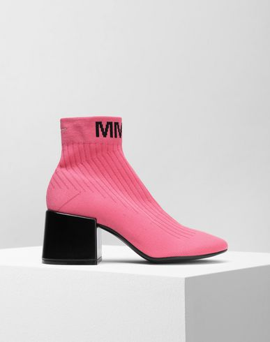 MM6 MAISON MARGIELA Ankle boots Woman Heel sock boots f