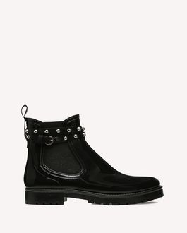 REDValentino METAL DOT ANKLE WELLINGTON BOOT