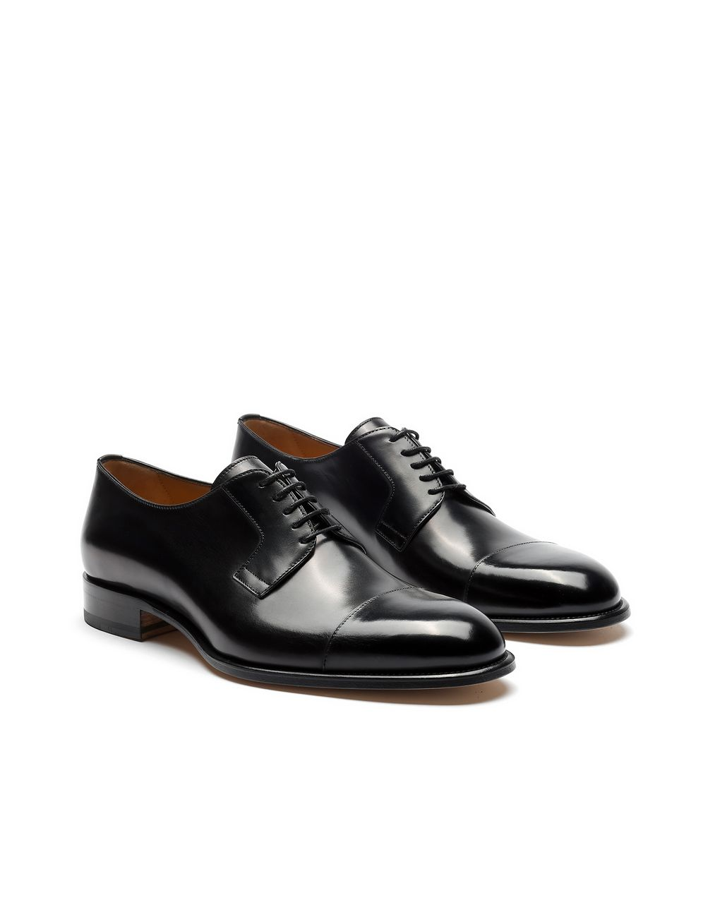 BRIONI Black Calfskin Derby Formal shoes Man d