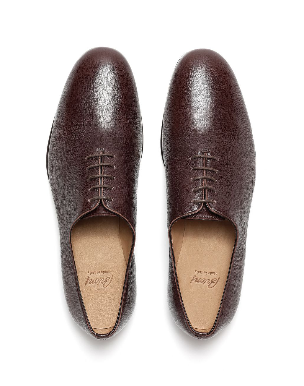 BRIONI Dark Brown Foot Glove Lace-up Formal shoes Man r