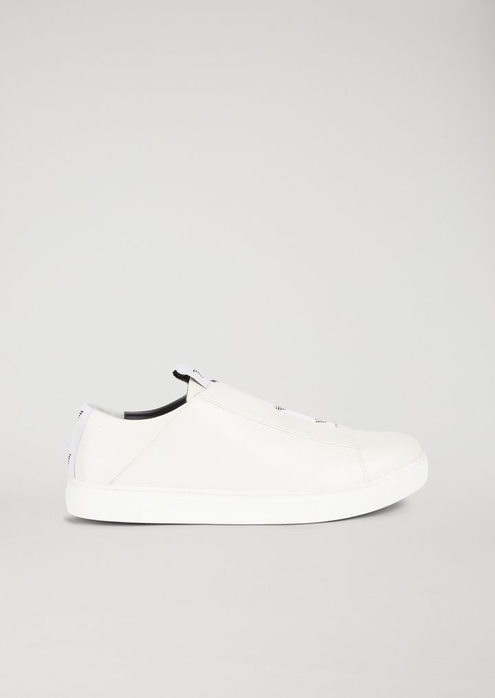 Nappa slip-on with elasticated logo strip  d26ecfcc643