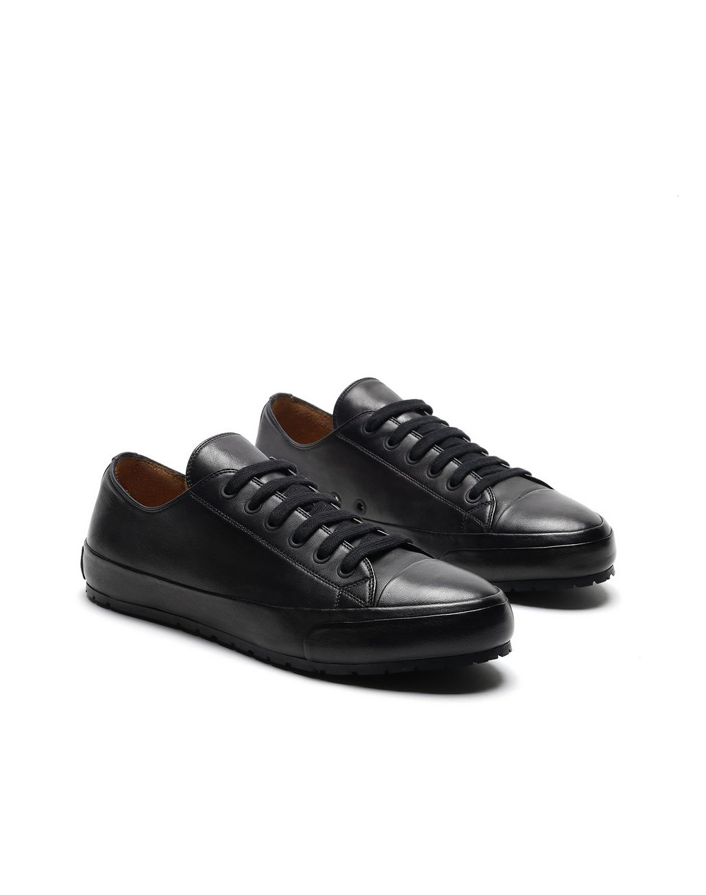 BRIONI Black Nappa Sneakers Sneakers [*** pickupInStoreShippingNotGuaranteed_info ***] d