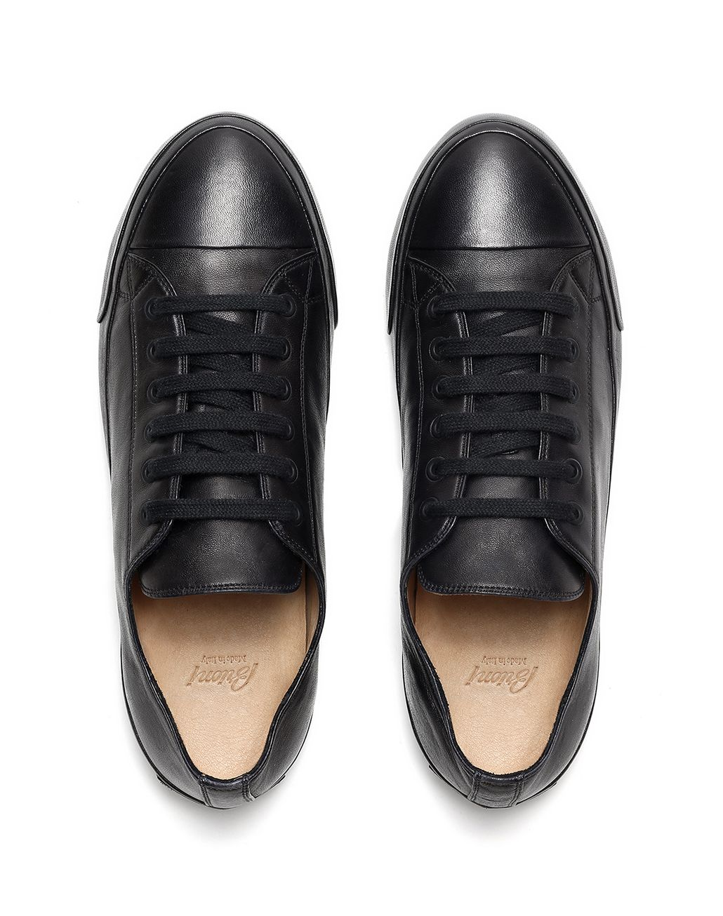 BRIONI Black Nappa Sneakers Sneakers [*** pickupInStoreShippingNotGuaranteed_info ***] r