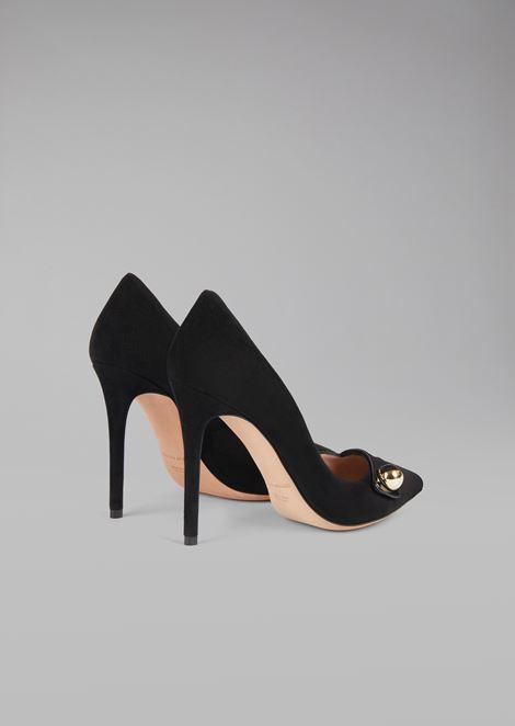 Замшевые туфли с деталью смокинга