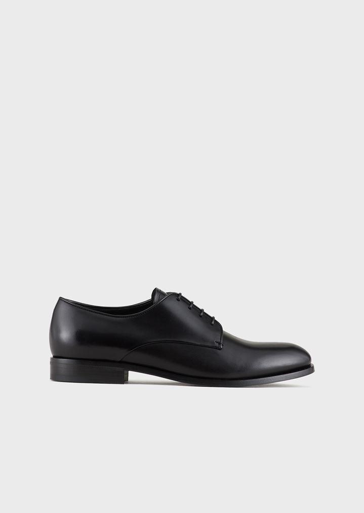 4197acf989e Zapatos derby de piel de becerro lisa | Hombre | Giorgio Armani
