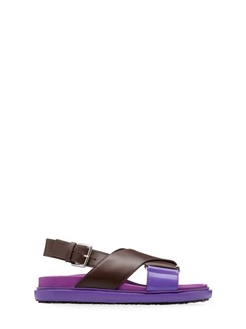Marni Fussbett crossover in contrasting color calfskin Woman