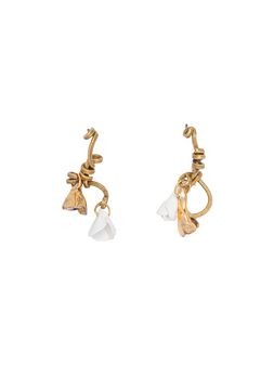 Marni Screw back earrings in gold metal rhinestone and ceramic Woman