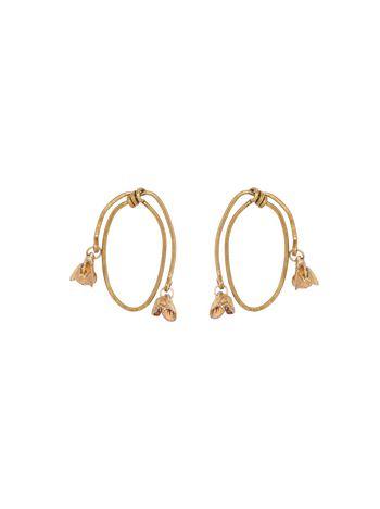 Marni Screw earrings in gold-tone metal  Woman