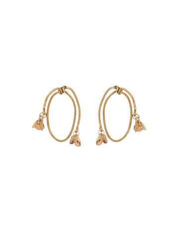 Marni Screw back earrings in gold metal Woman