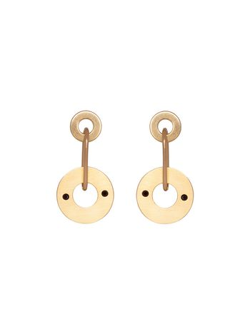 Marni Screw back earrings with gold metal chain Woman