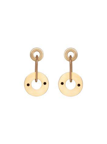 Marni Screw earrings in gold-tone metal chain Woman