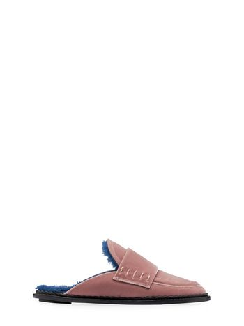 Marni Velvet mule with shearling insole Woman